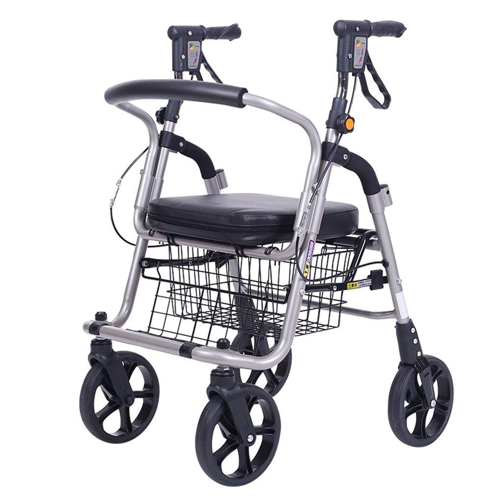 ショッピングカートシニアショッピングカートスモールカート食料品買い物カゴ高齢者ヘルパースクーターは安心できる120kg (Color : Black, Size : 38*56*80cm) B07RRMQRDQ Black 38*56*80cm
