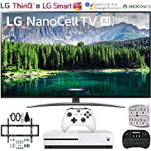 "LG 49SM8600PUA 49"" 4K HDR Smart LED NanoCell TV w/AI ThinQ (2019 Model) w/Xbox Bundle Includes Microsoft Xbox One S 1TB, Flat Wall Mount Kit Ultimate Bundle for 32-60 inch TVs and More"