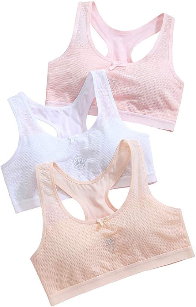Value Pack 3 Emmarr Girls Seamless Cami Bra with Removable Padding