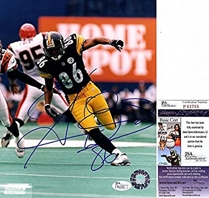 f93aa6c1531 Hines Ward Autographed Photograph - 8x10 2x Super Bowl Champion Certificate  of Authenticity - JSA Certified