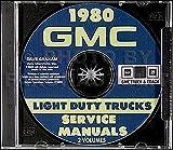 1980 GMC TRUCK & PICKUP REPAIR SHOP & OVERHAUL MANUAL For 1500, 2500, 3500, C, K, G, P, Sierra, Grande, High, Classic, crew cab, bonus cab, Suburban, Jimmy, stakebed, Rally Van