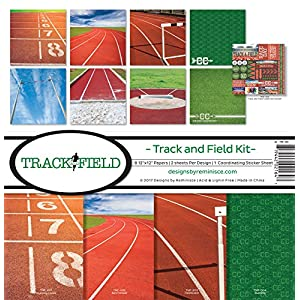 Reminisce Track and Field Collection Scrapbook Kit, Track & Field