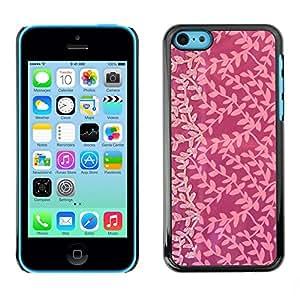 TopCaseStore / la caja del caucho duro de la cubierta de protección de la piel - Pink Subtle Tone Joy Small Pattern - Apple iPhone 5C