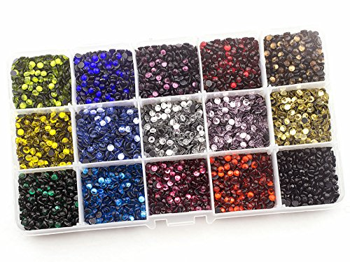 Summer-Ray SS16 4mm Assorted Color Hot Fix Rhinestones in Storage Box