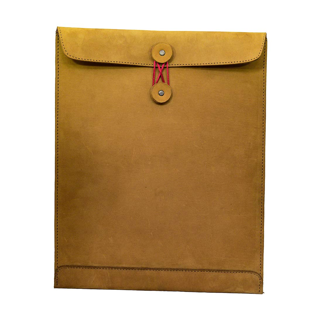 Hide & Drink, Leather Mailing Envelope Document Holder/Office & Work Essentials Handmade, Includes 101 Year Warranty :: Old Tobacco