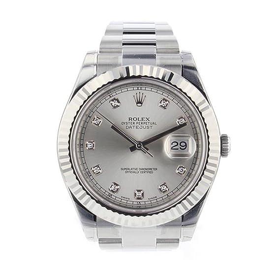 design senza tempo 3c017 48c9c Rolex Datejust II 41 mm in acciaio INOX argento diamante ...