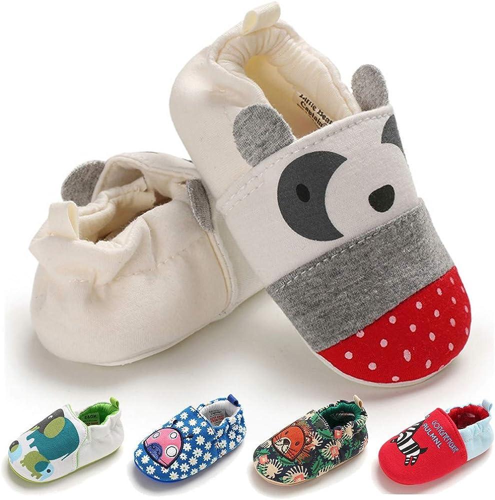 0-24 Months TIMATEGO Toddler Baby Boys Girls Shoes Non Skid Slipper Socks Moccasins Infant First Walker House Walking Crib Shoes