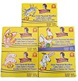 Madame Gougousse Bouillon Cubes Bundle Pack (5 Boxes) - Fish, Goat, Shrimp, Blue Crab and Chicken