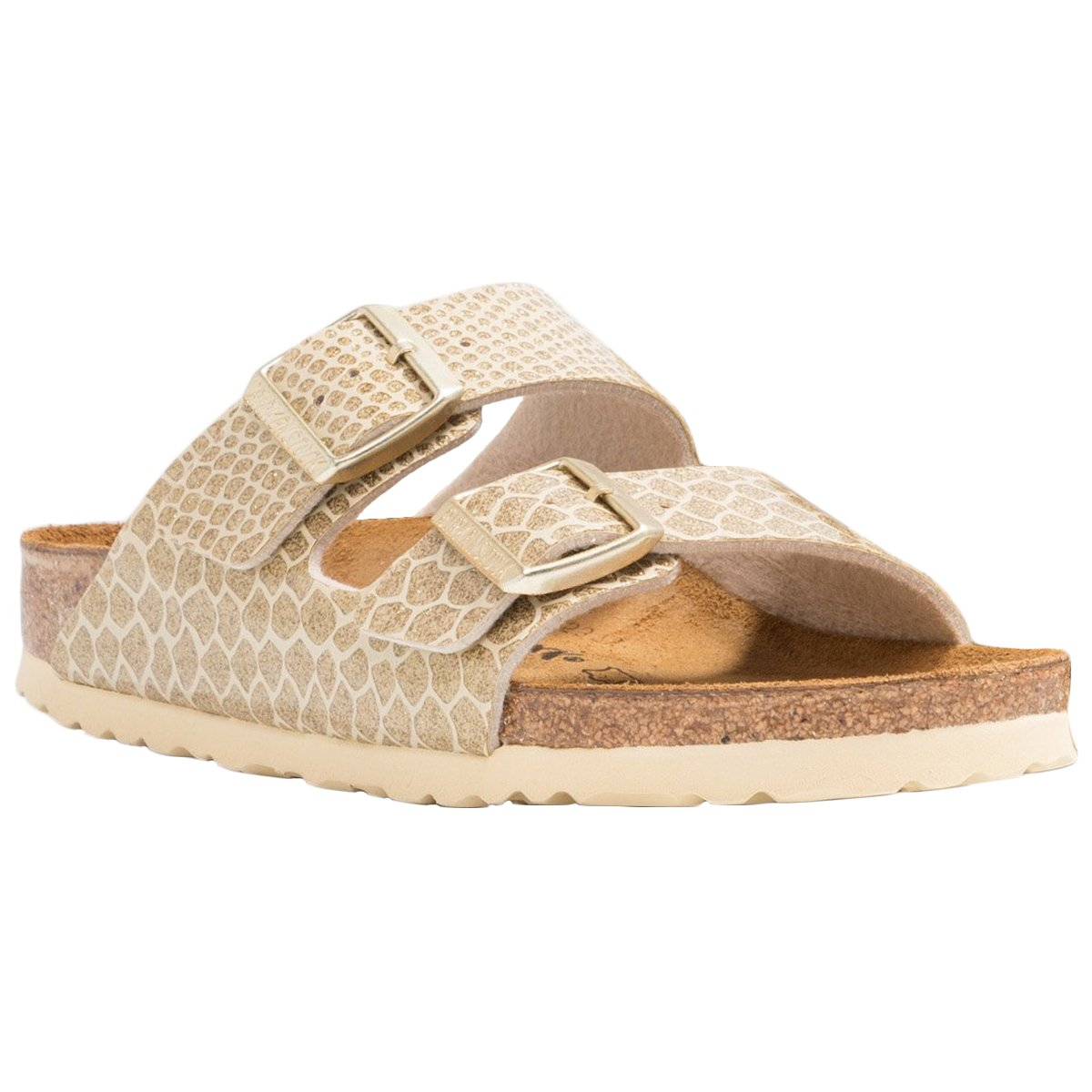 b7155de087b6 Galleon - Birkenstock Unisex Arizona Birko-Flor Magic Snake Gold Sandals 7  W   5 M US