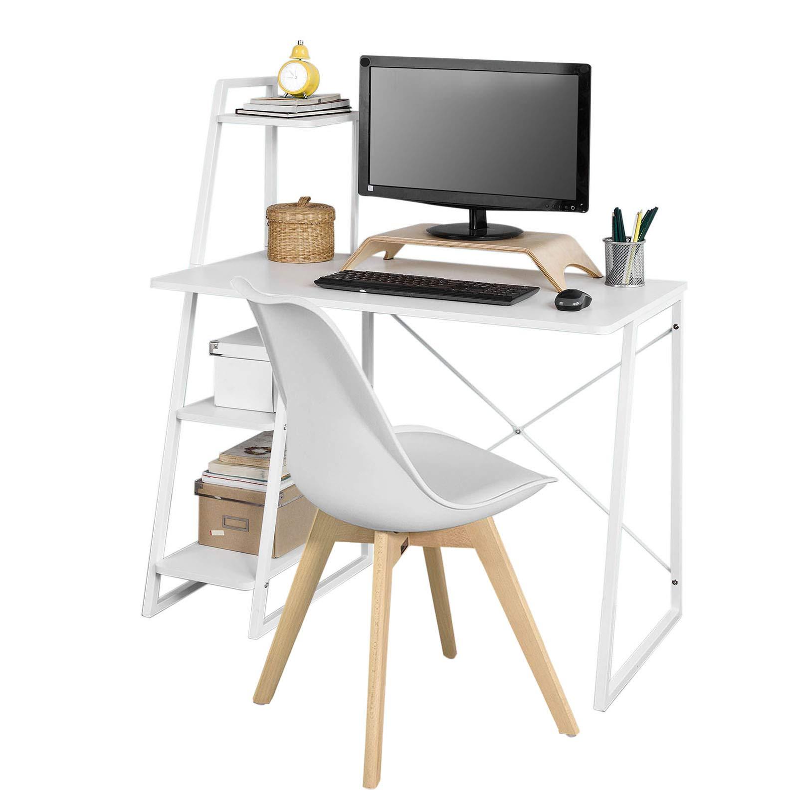 SoBuy Set de 1 Mesa de Escritorio y 1 Silla Oficina de Escritorio, FWT29-