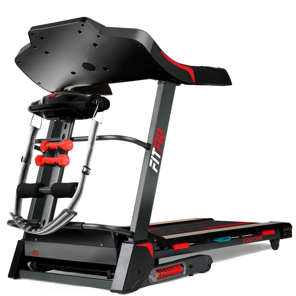 Fitfiu HSM-MT12 Cinta de Correr Plegable 2200w máx. 18 km/h con inclinación automática Unisex Adulto, Negro Medium: Amazon.es: Deportes y aire libre