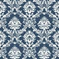 CS35600 - Classic Silks 3 Damask Blue White Galerie Wallpaper