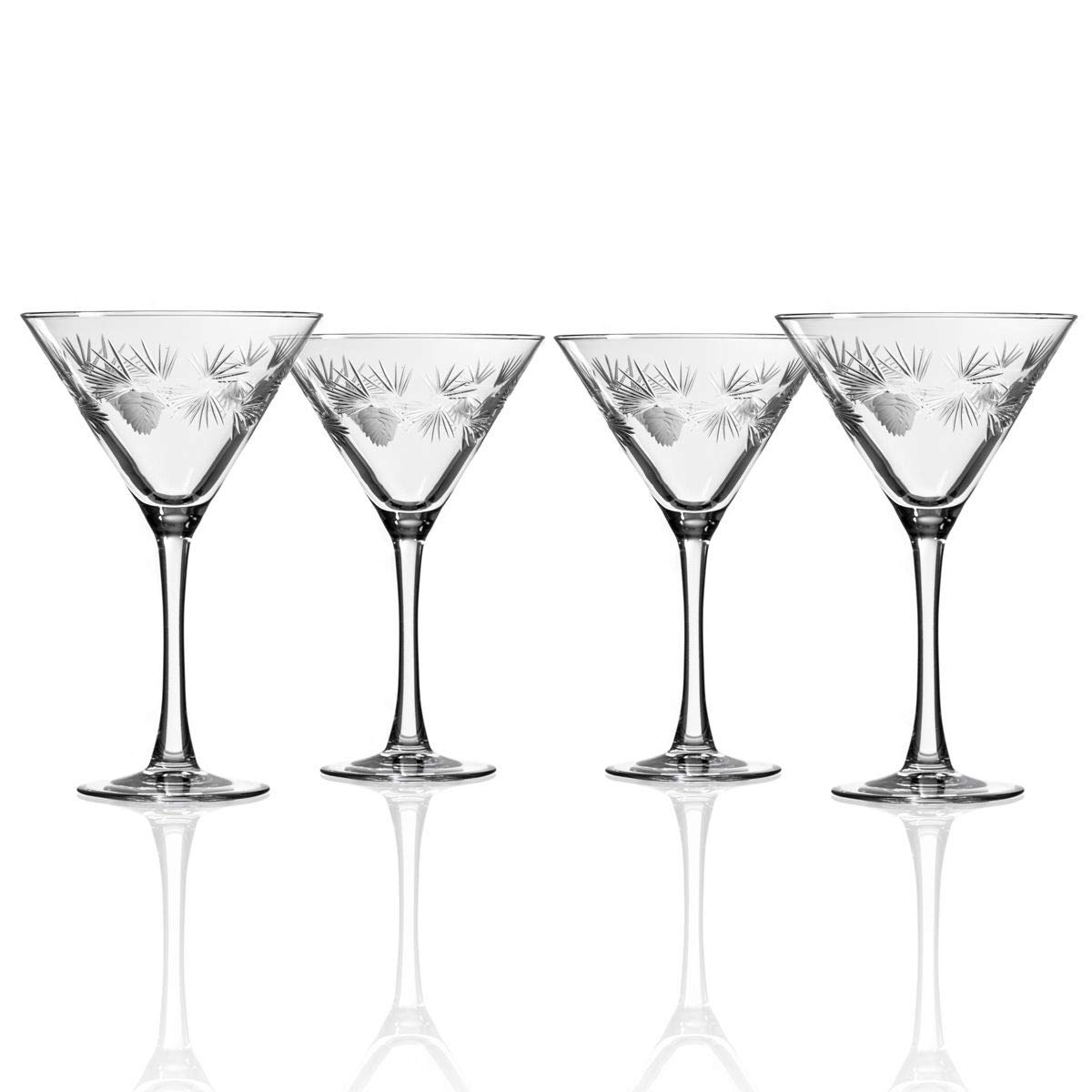 Rolf Glass Icy Pine Martini Glass 10oz, Set of 4 Glasses by Rolf Glass