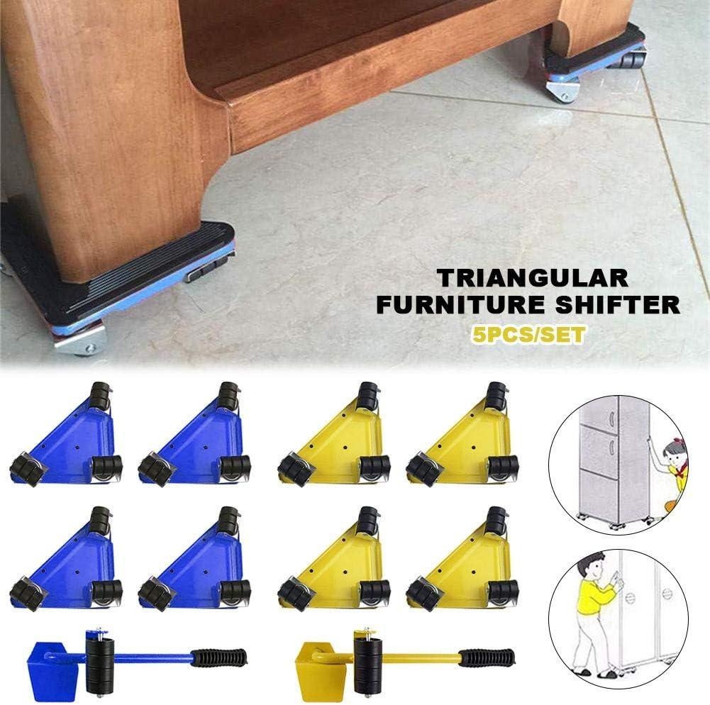 Childlike 5 PCS M/öbel-Transportroller-Set M/öbelheber Heavy Furniture Roller Bewegen Werkzeugsatz F/ür M/ühelosen Verschieben Von M/öbeln//Umzugshelfer//Lastenheber