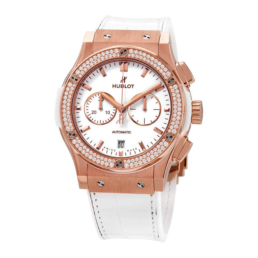 Hublot Classic Fusion Chronograph Rose Gold Diamonds Watch 541.OE.2080.LR.1104