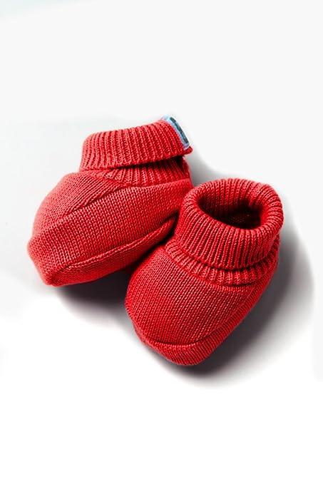 Patucos de Punto 100% algodón para Bebé Color Rojo - Minutus ...