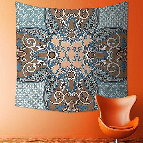Printsonne Tapestry Wall Tapestry Collection Arabian Style Geometric Pattern Islamic Persian Art Elements and Baroque Touch Art Wall Hanging Yoga/Picnic/Camping Mat by Printsonne