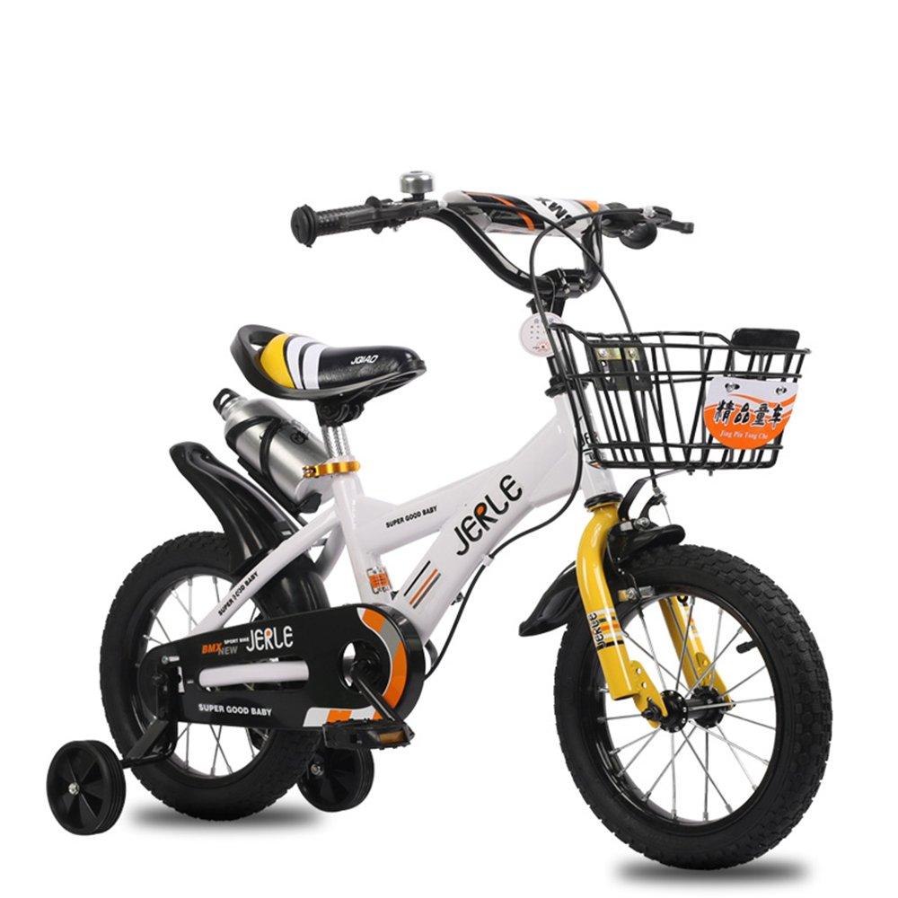 子供の自転車、14/16/18インチの赤ちゃん2-3-4-6-10歳の男の子のベビーカーの自転車 ( 色 : White yellow , サイズ さいず : 16 inches ) B07CNFSSW1 16 inches|White yellow White yellow 16 inches