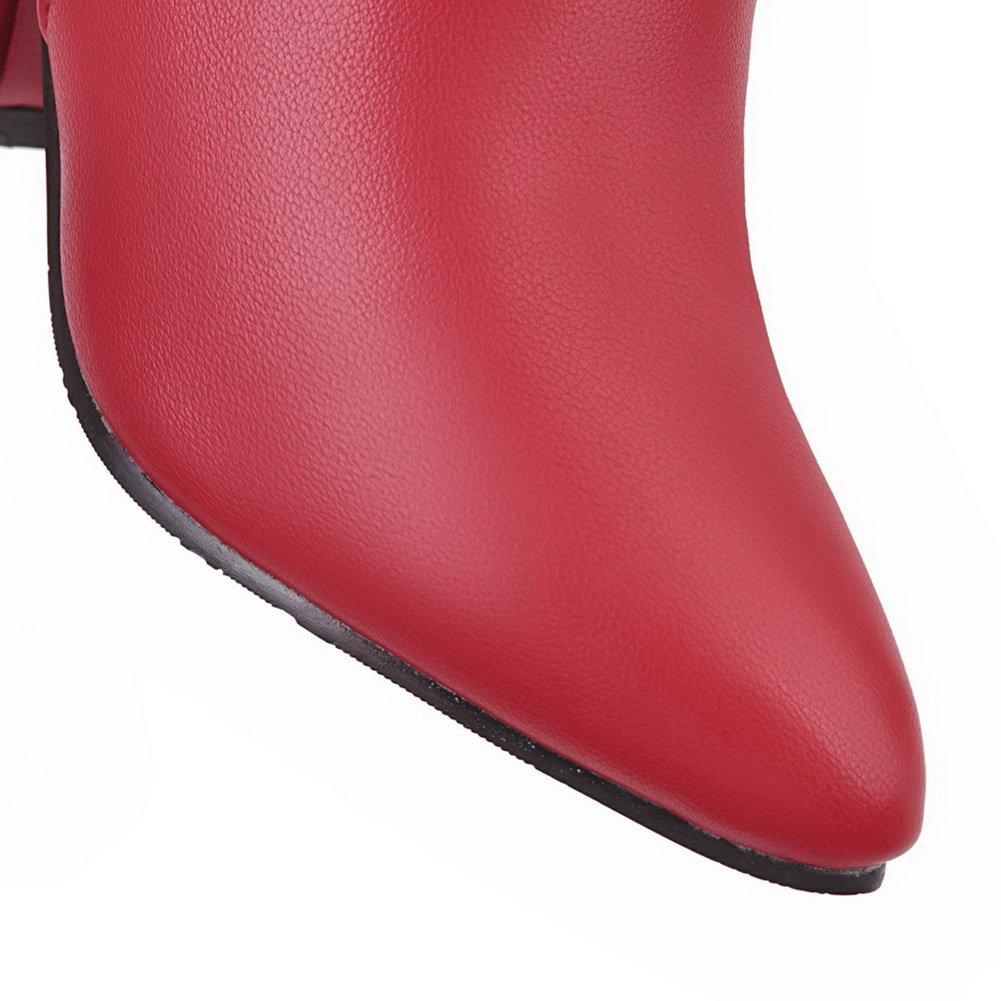 AandN Womens Zip Boots Closed-Toe Zip Womens Waterproof Warm Lining Manmade Nubuck Bridal Urethane Nubuck Pointed-Toe Urethane Boots DKU01909 B07917ZY5G Boots 802802