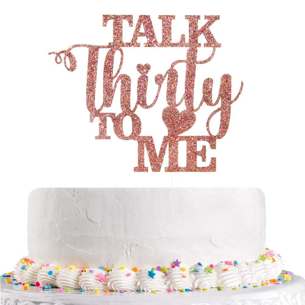 DIRTY 30 cake topper-30th cake topper-30th birthday cake topper-happy 30th birthday-thirty-happy birthday-cake decor-birthday decor