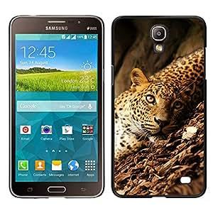 EJOY---Cubierta de la caja de protección para la piel dura ** Samsung Galaxy Mega 2 ** --Leopard Selva salvajes grandes Ojos verdes del gato