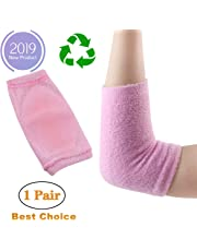 Gel Elbow Sleeves Hand Elbow Cover Protection Gel Nursing Care Elbow Belt for Dry Cracked Skin Moisturizing Exfoliating Softening (Pink)