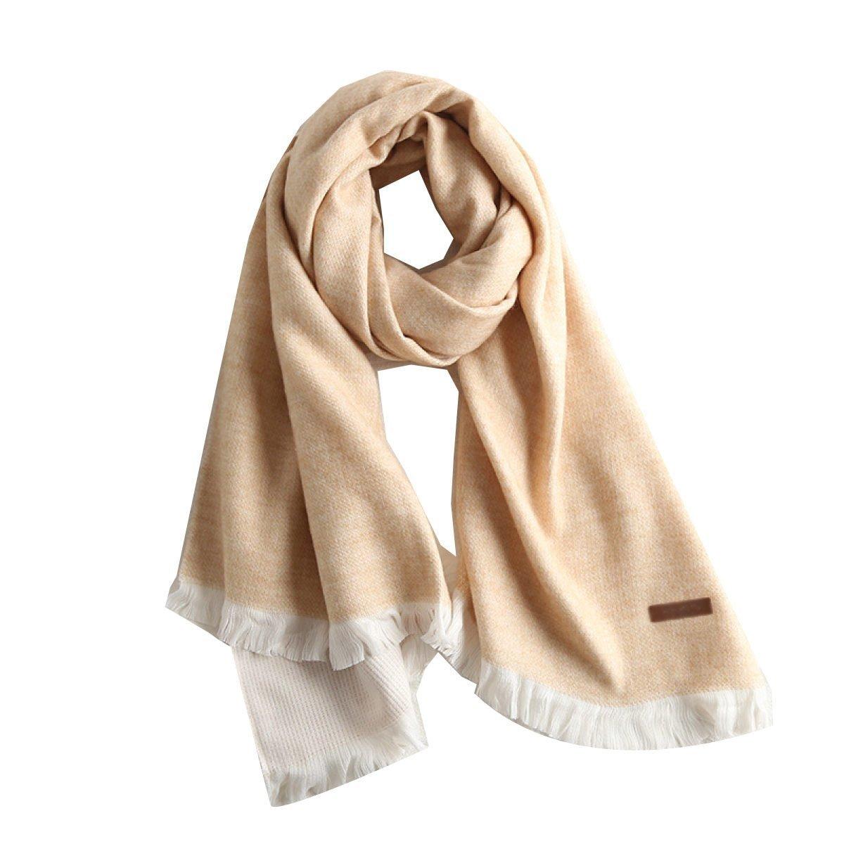 DIDIDD Bufanda doble cara engrosamiento caliente estudiante simple mantón,B,194 * 74cm