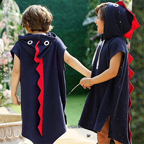 Comfybuy Cute Dinosaur Hooded Costume Dress Up for Teen Boys Girls Cosplay Party -
