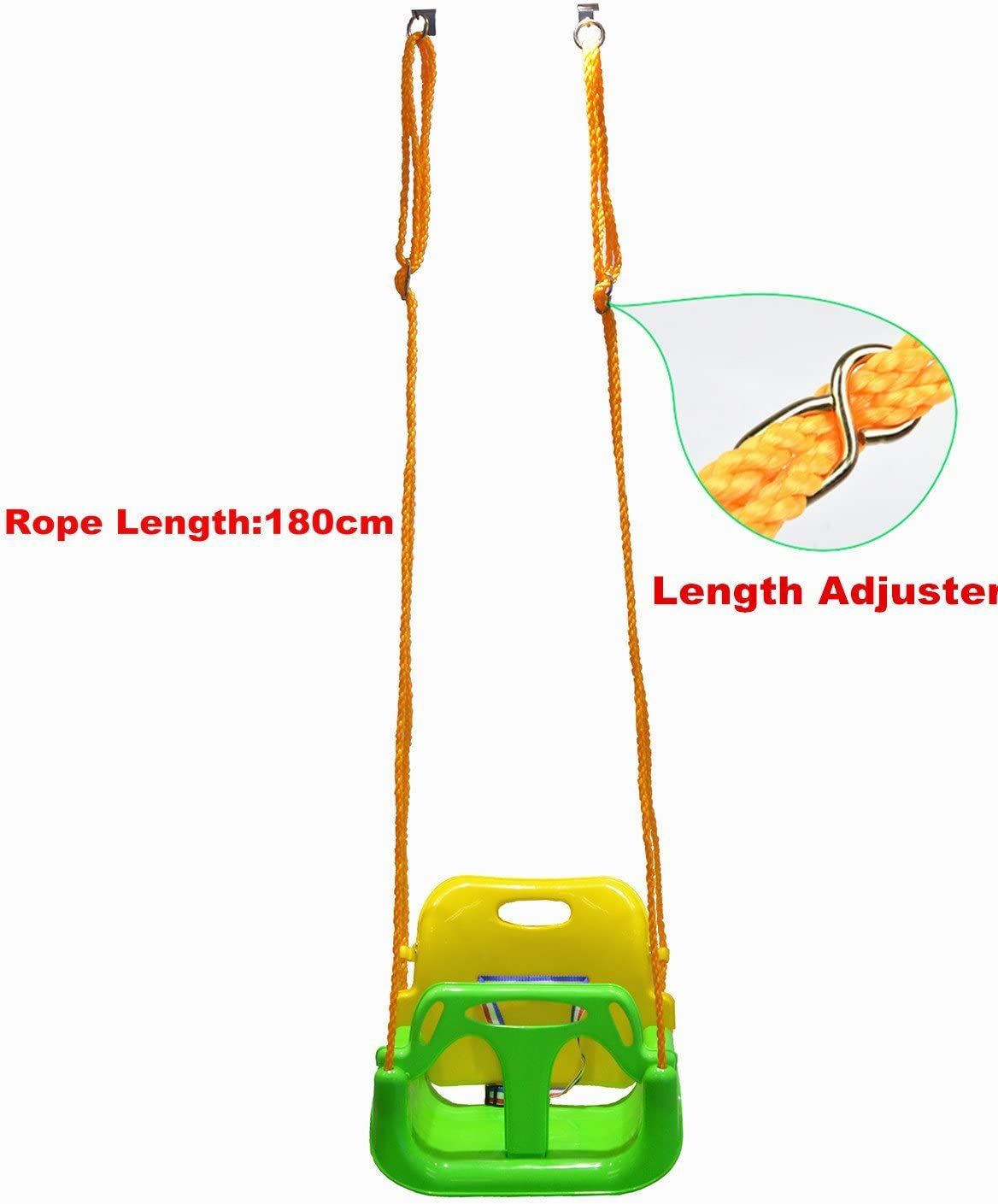 Blue Bbcare 3-in-1 Child to Teenager Secure Swing with Snap Hooks /& Hanger Belts