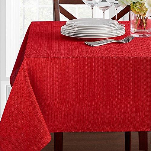 Benson Mills Textured Fabric Tablecloth (52