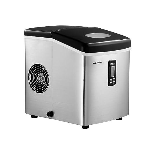 Amazon.com: Máquina eléctrica de hielo de acero inoxidable ...