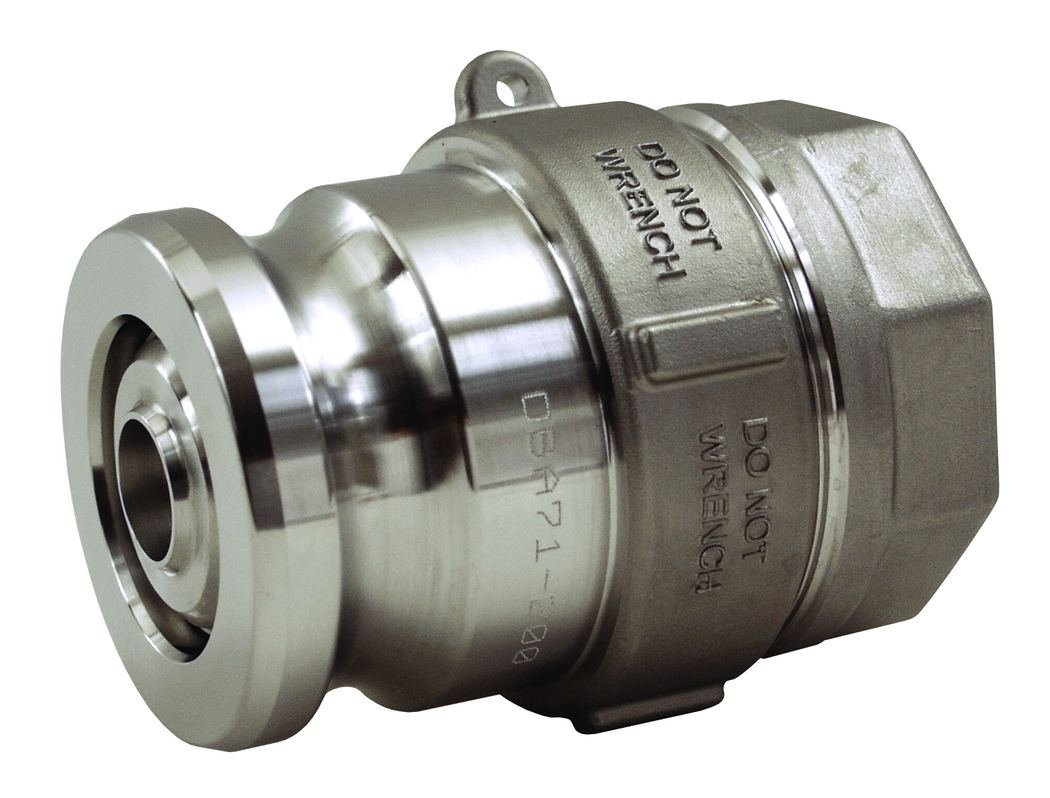 Dixon DBA74-200 SS Dry Disconnect Adapter, 2.5'', EPT Seals, 2'' Female NPT, 3''
