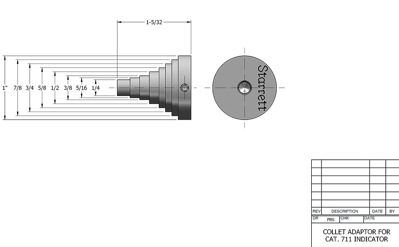 Starrett PT28315 Collet Adaptor for Test Indicators