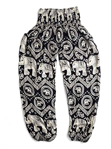 The Elephant Pants, Black Diamond Harem Pants, Extra Large