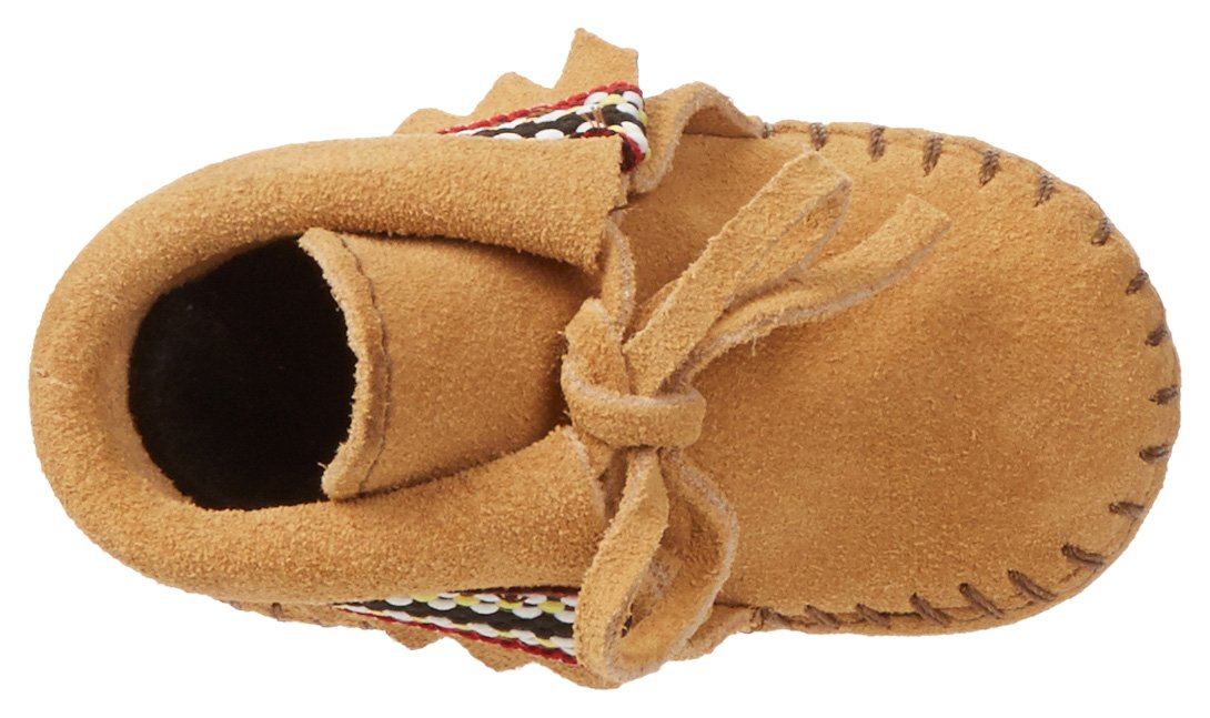 Minnetonka Braid Bootie (Infant/Toddler),Tan,4 M US Toddler