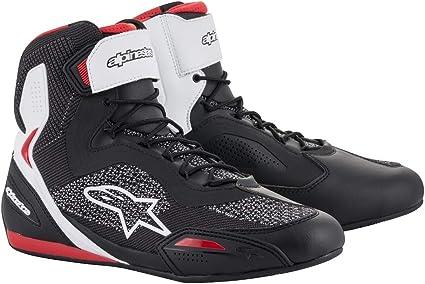 9 Alpinestars Mens Faster-3 Drystar Motorcycle Shoes Black//Gray//Red