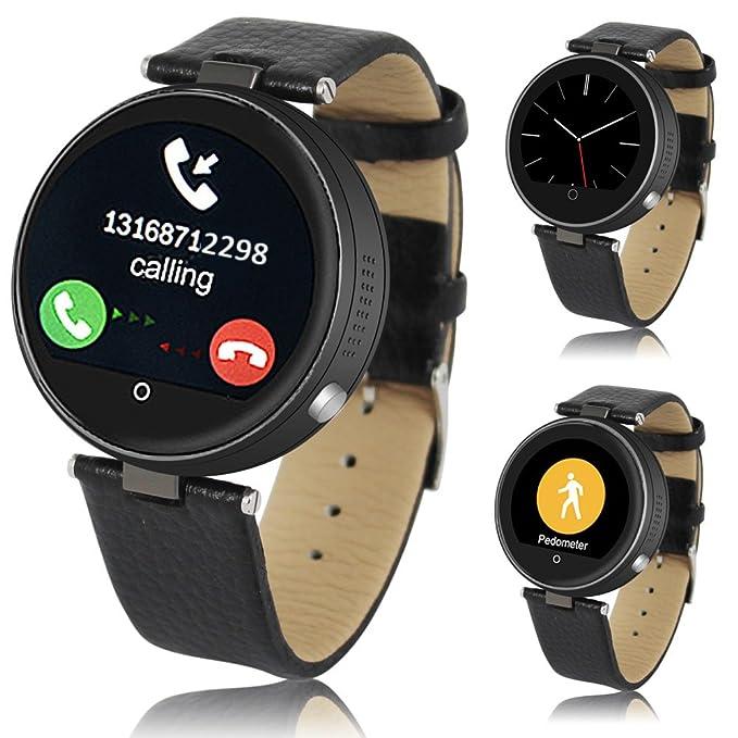 Indigi® Espacio Gris Metal Funda Bluetooth SmartWatch Teléfono ...