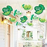 Hanging Double the Fun - Twins Two Peas in a Pod - Outdoor Hanging Decor - Baby Shower or First Birthday Party Decorations - 10 Pieces