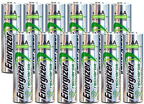 Energizer AA Rechargeable batteries NiMH 2300 mAh 1.2V NH15 - 12 ()