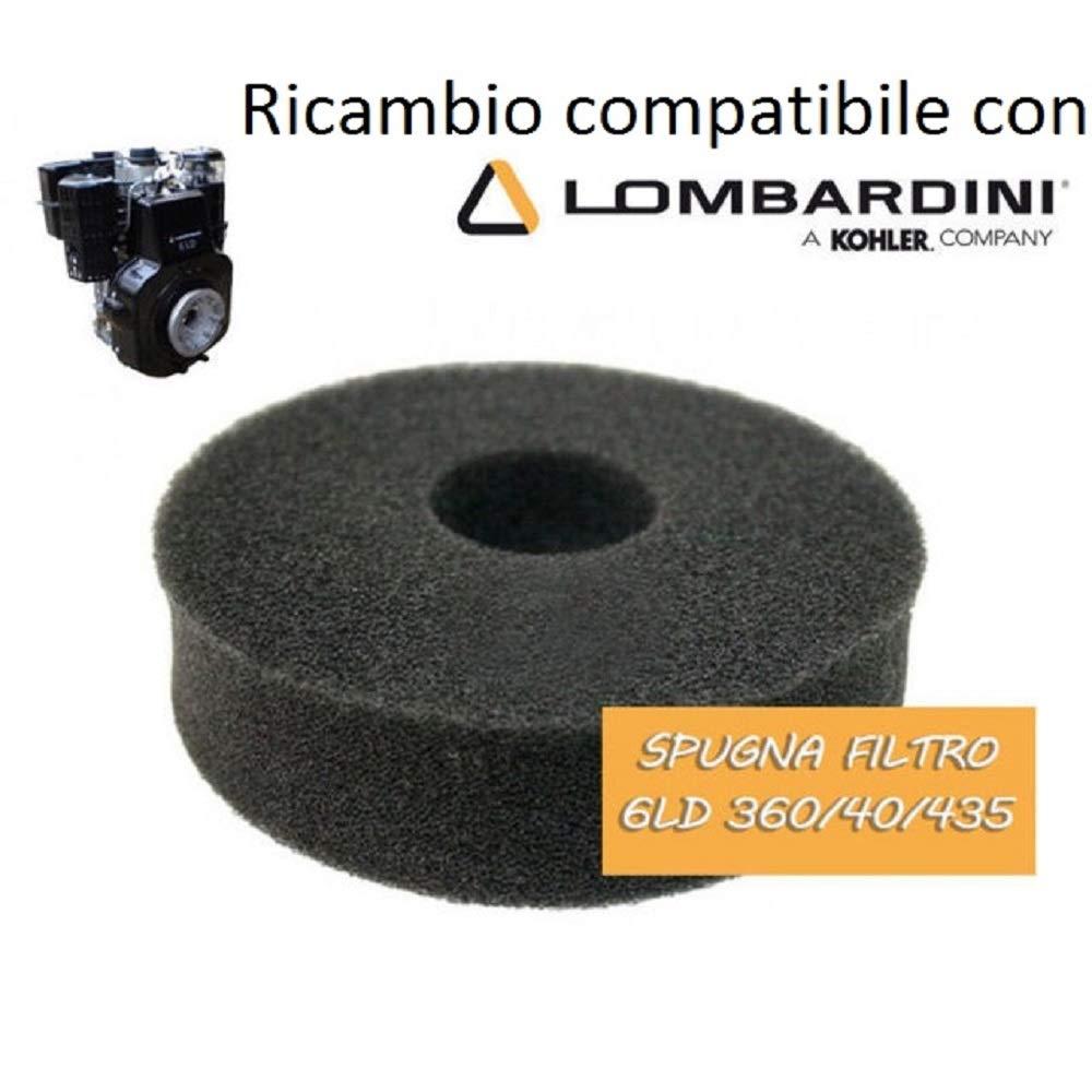 Spugna filtro aria motore DIESEL compatibile LOMBARDINI 500 520 6 LD 325 6 LD 360 6 LD 400