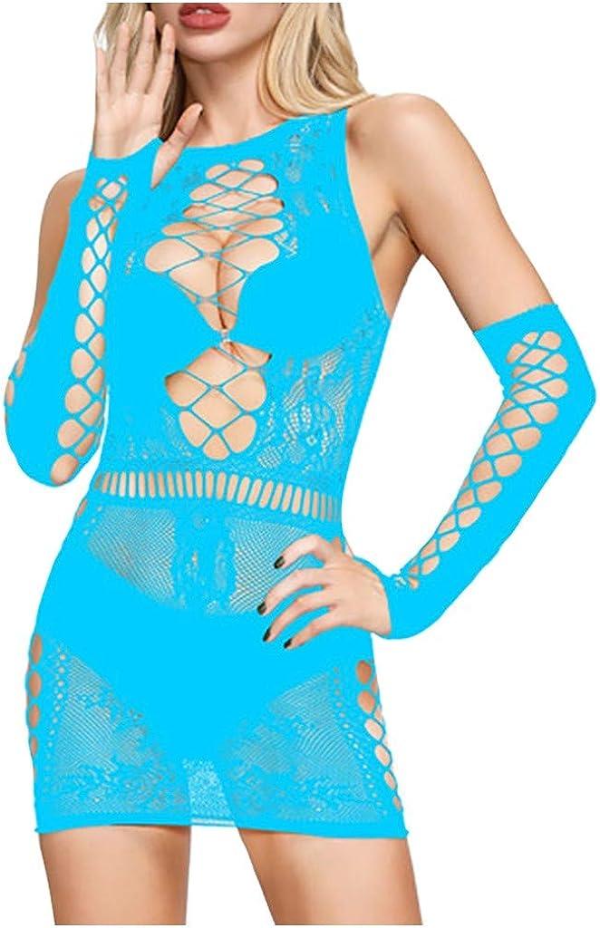 Damen Dessous Netz Große Größen Set, Sexy Dessous Kleid