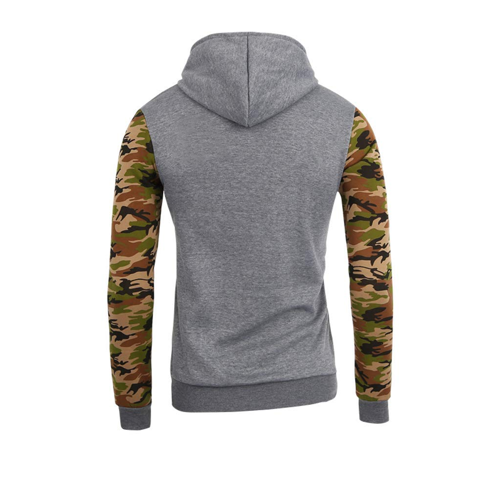 Bestow Hombres Camuflaje Abrigo Sudadera Chaleco Suéter con Capucha Pullover Stitching Sweater Baseball Shirt: Amazon.es: Ropa y accesorios