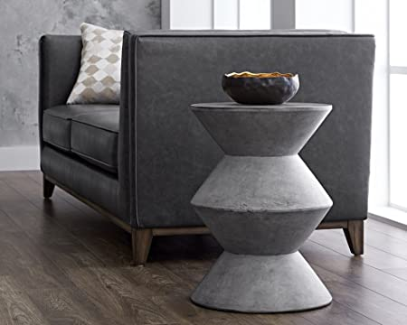 Sunpan Modern 48018 Mixt End Tables, Anthracite Grey