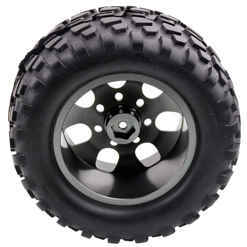 Toyoutdoorparts RC 08008N Alum Gray Wheel&08043 Tires for RedCat 1/10 Nitro Volcano S30 Truck by Toyoutdoorparts (Image #3)