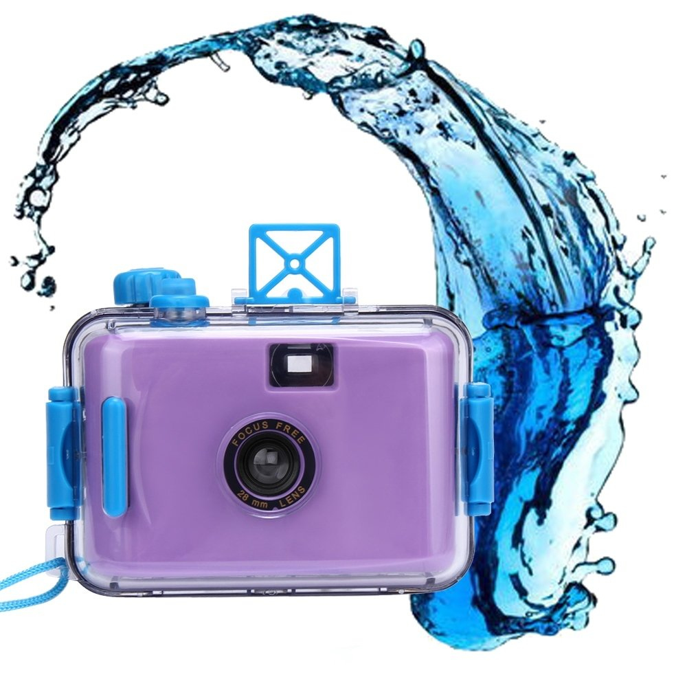 Fullkang Underwater Waterproof Mini 35mm Film Automatic Miniature Camera Purple Violet