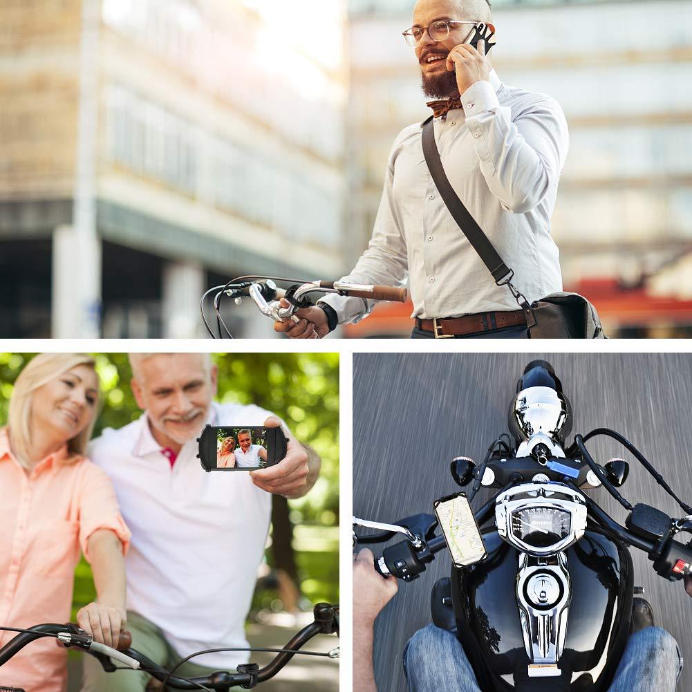 universal Motorrad Handyhalterung f/ür Allen Handy,Full Screen freundliche Handyhalter f/ür Rennrad MTB Motorrad Kinderwagen Handyhalterung Fahrrad,abnehmbar 360/°verstellbare Fahrrad Handyhalterung