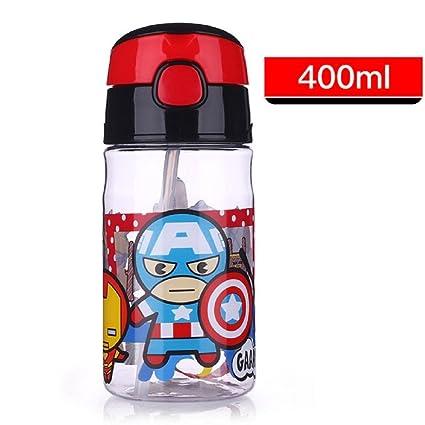 Prueba de Fugas niño de portátil paja botella de agua (400 ...