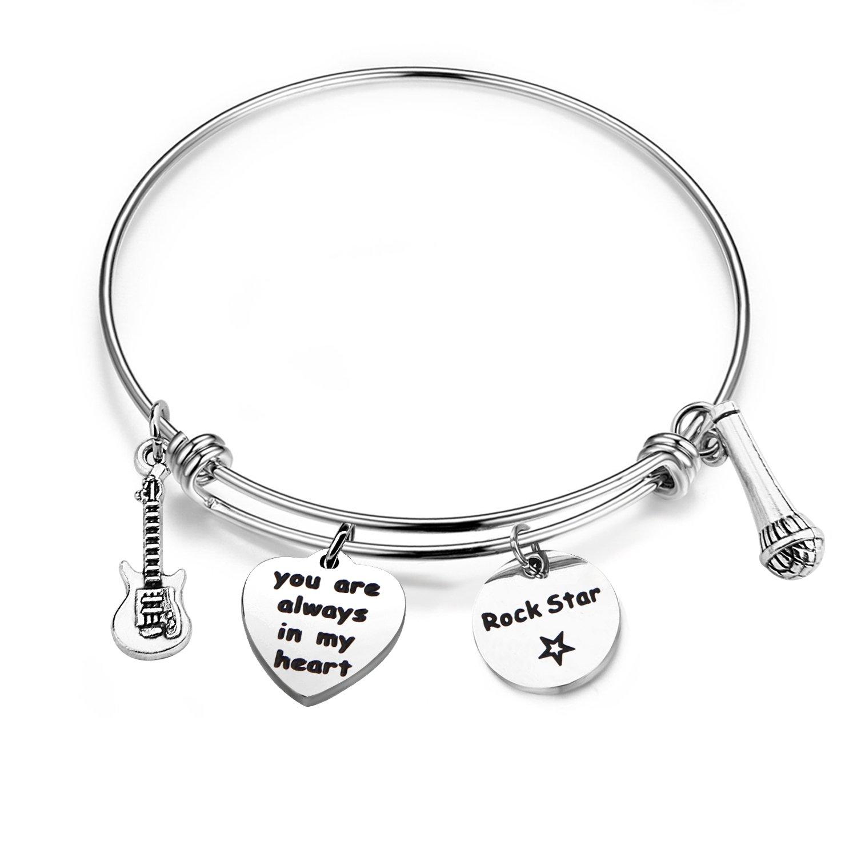 BNQL Hollywood Legends Rock Star Bracelet Gift for Elvis Fan (Elvis Presley Bracelet)