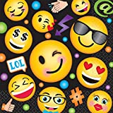 16 Pack LOL Emoji Large Lunch Napkins Birthday Party Supplies