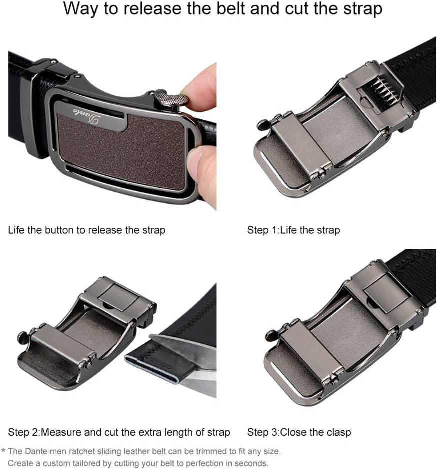 XUEXUE Mens Automatic Buckle,Adjustable Belt, Casual Formal Belts,Great for Jeans /& Casual Wear /& Cowboy Wear /& Work Clothes Uniforms